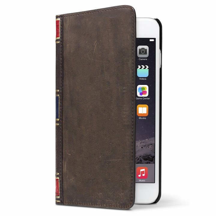 iPhone6 Plus ケース 洋書のような手帳型ケース BookBook  ヴィンテージブラウン iPhone 6 Plus_0