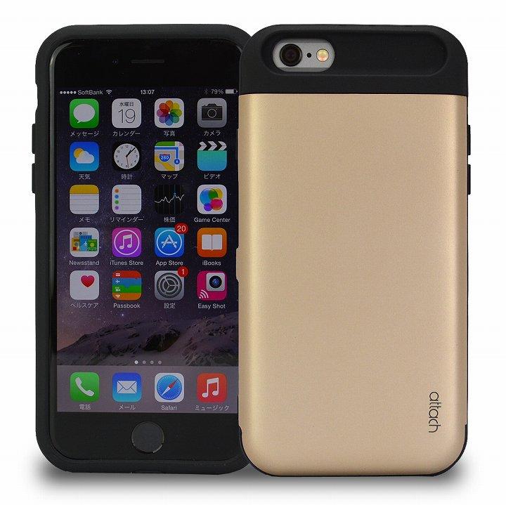 iPhone6 ケース iCash ICカード対応 タフケース ゴールド iPhone 6_0