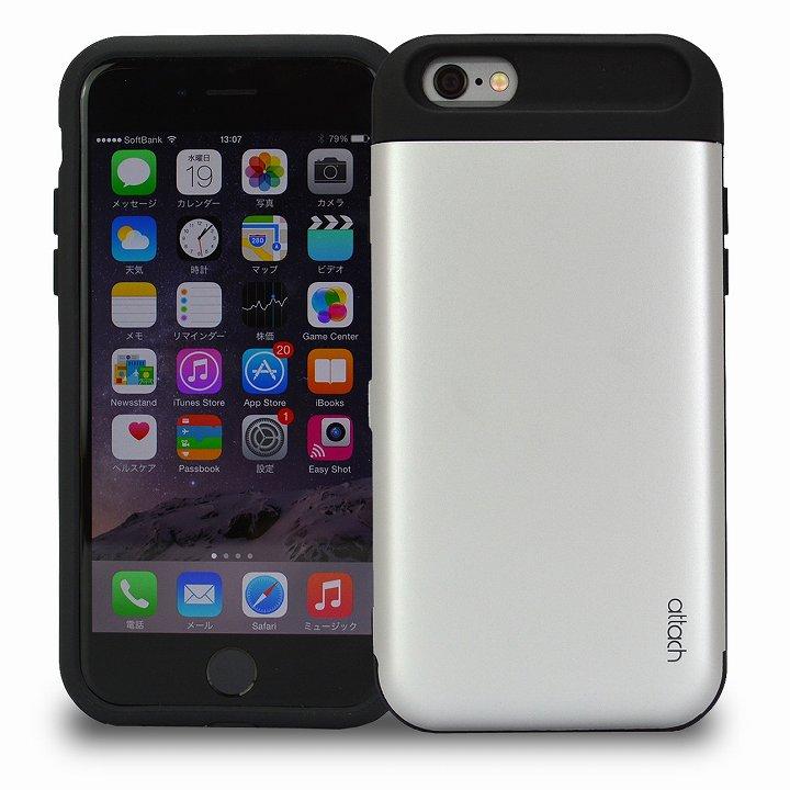 iPhone6s/6 ケース iCash ICカード対応 タフケース シルバー iPhone 6s/6_0