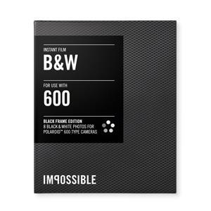 INSTANT BLACK&WHITE  POLAROID 600 TYPE CAMERA BLACK FRAME
