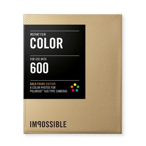 INSTANT COLOR FILM POLAROID 600 TYPE CAMERA GOLD FRAME