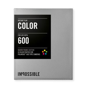 INSTANT COLOR FILM POLAROID 600 CAMERA SILVER FRAME