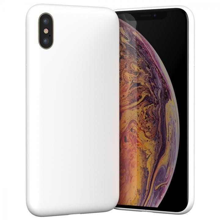 iPhone XS ケース MYNUS iPhone XS CASE 背面ケース マットホワイト【4月上旬】_0