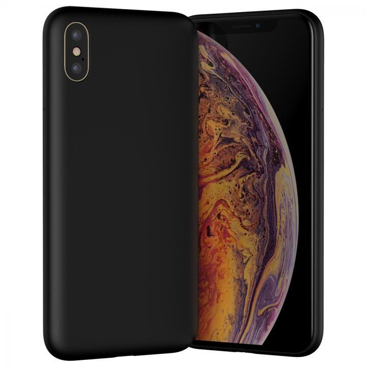 iPhone XS ケース MYNUS iPhone XS CASE 背面ケース マットブラック_0