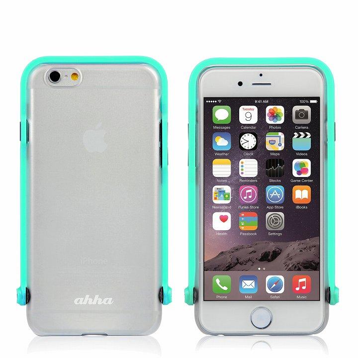 iPhone6 ケース スナップショットケース SELFIE クリア ターコイズ iPhone 6_0