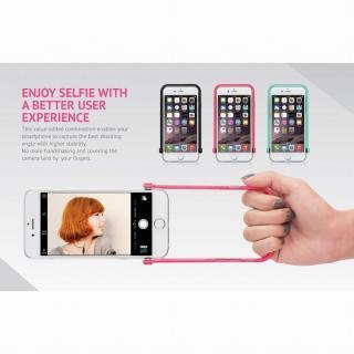 【iPhone6ケース】スナップショットケース SELFIE クリア ピンク iPhone 6_6