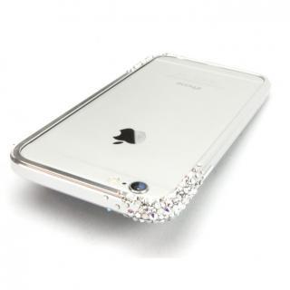 SWAROVSKIが施されたアルミバンパー GRAVITY シルバー iPhone 6