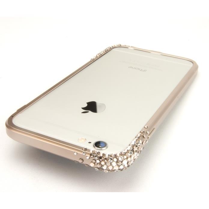 iPhone6 ケース SWAROVSKIが施されたアルミバンパー GRAVITY ゴールド iPhone 6_0