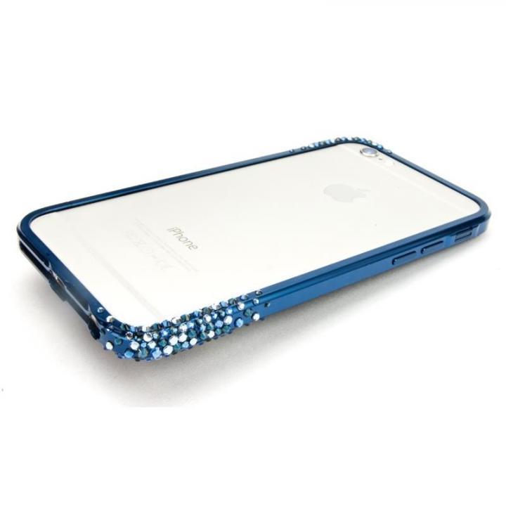 【iPhone6ケース】SWAROVSKIが施されたアルミバンパー GRAVITY ブルー iPhone 6_0