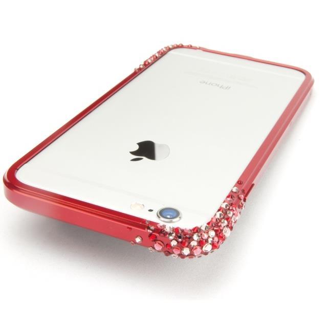 SWAROVSKIが施されたアルミバンパー GRAVITY レッド iPhone 6