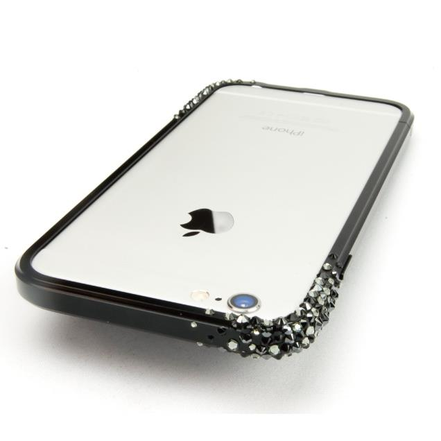 SWAROVSKIが施されたアルミバンパー GRAVITY ブラック iPhone 6