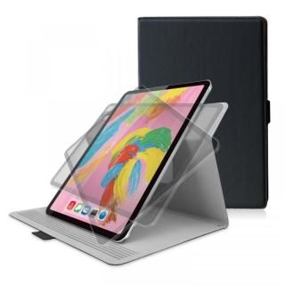 ソフトレザー フラップカバー 360度回転 ブラック iPad Pro 2018 11インチ