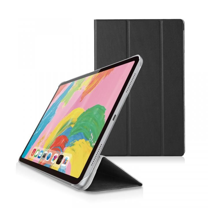 ソフトレザー フラップカバー 背面クリア ブラック iPad Pro 2018 11インチ_0