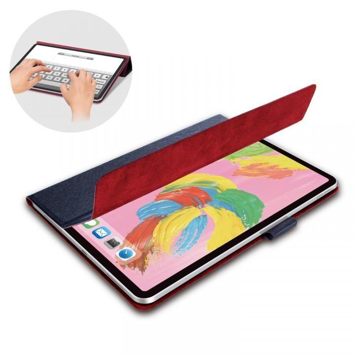 イタリア製高級ソフトレザー フラップカバー ブルー iPad Pro 2018 11インチ_0
