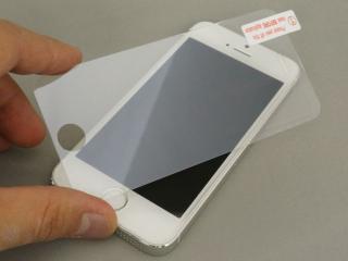 iPhone SE/その他の/iPod フィルム iPhone SE/5s/5c/5 強化ガラスフィルム 【ブルーライトカット機能付】