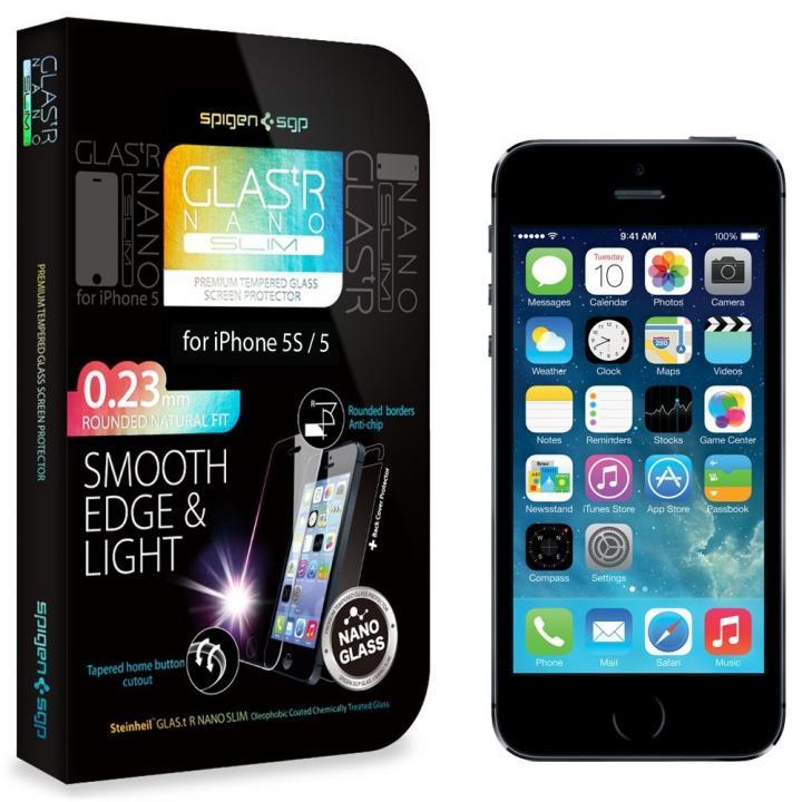 【iPhone SE/5s/5c/5】シュタインハイル GLAS.t R 強化ガラスフィルム(背面保護フィルム同梱)