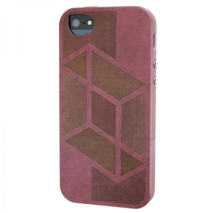 iPhone SE/5s/5 ケース リサイクルウッドケース Shift-Red iPhone SE/5s/5ケース_0