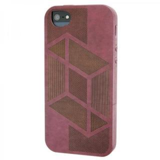 iPhone SE/5s/5 ケース リサイクルウッドケース Shift-Red iPhone SE/5s/5ケース