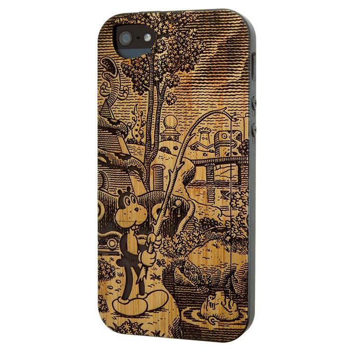 iPhone SE/5s/5 ケース リサイクルウッドケース Frank in the Tempest:Frank-Bamboo iPhone SE/5s/5ケース_0