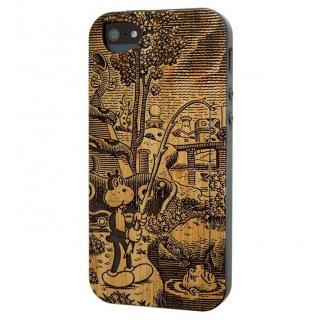 リサイクルウッドケース Frank in the Tempest:Frank-Bamboo iPhone SE/5s/5ケース