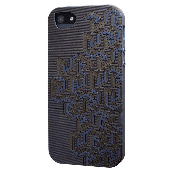 iPhone SE/5s/5 ケース リサイクルウッドケース Meander-Blue iPhone SE/5s/5ケース_0