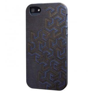 リサイクルウッドケース Meander-Blue iPhone SE/5s/5ケース