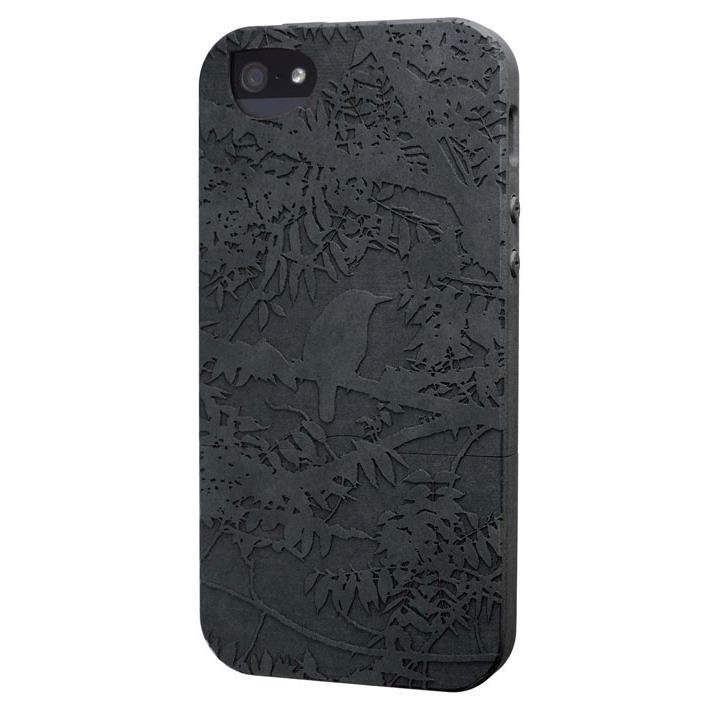 iPhone SE/5s/5 ケース リサイクルウッドケース The Wren-Black iPhone SE/5s/5ケース_0