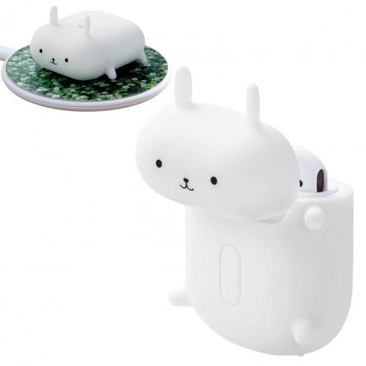 無線充電アニマルデザインシリコンAirPodsケース ウサギ_0