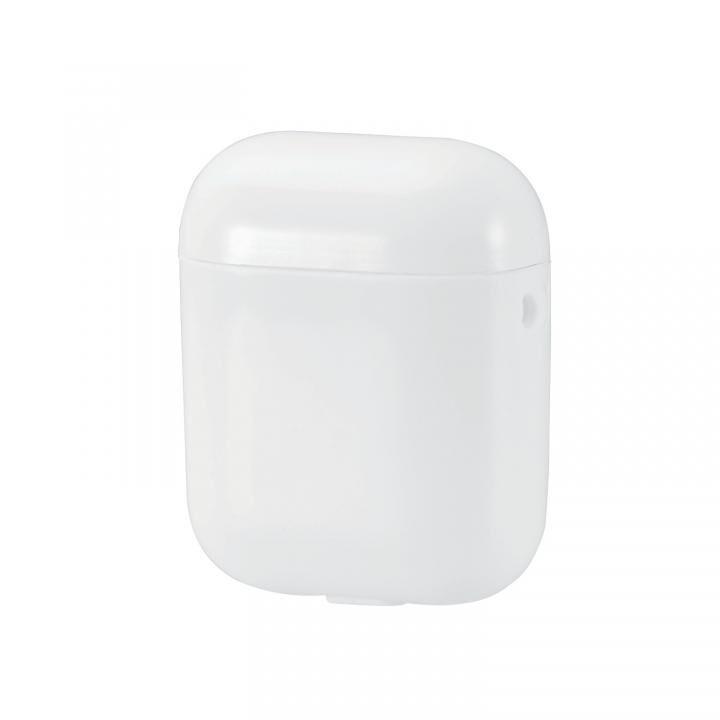 無線充電AirPods用ソフトケース 1.0mm厚 ストラップホール付き ホワイト_0