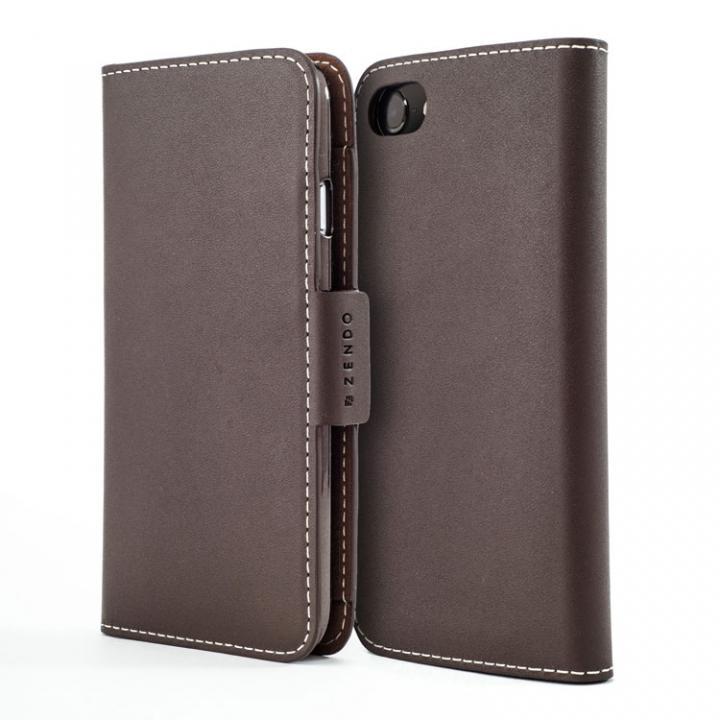 ZENDO KAIGA(カイガ) German Leather 手帳型ケース for iPhone 7