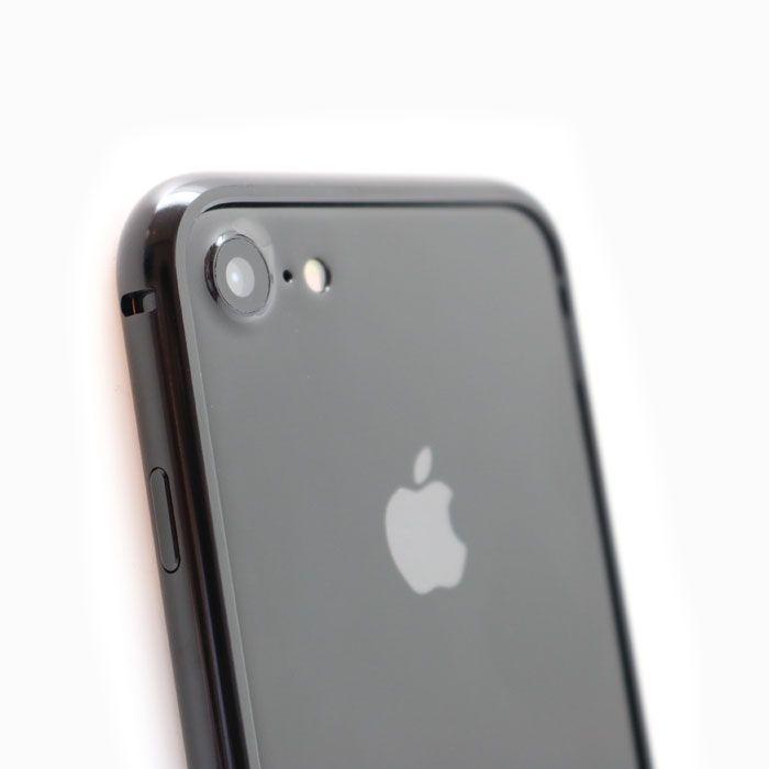 iPhone8/7 ケース クリスタルアーマー メタルバンパー ジェットブラック iPhone 8/7_0