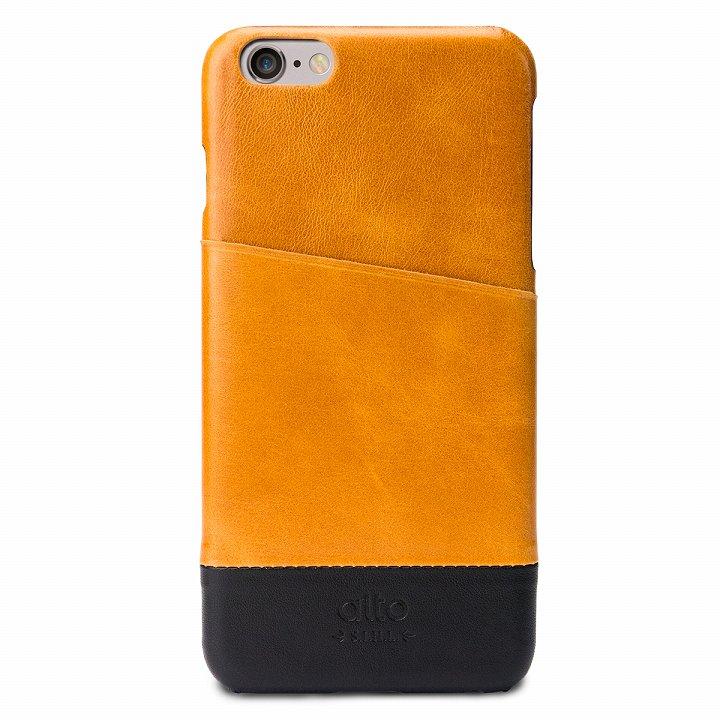 【iPhone6s Plus/6 Plus】イタリア製本革ケース カードホルダー搭載 ライトブラウン/ブラック iPhone 6s Plus/6 Plus_0