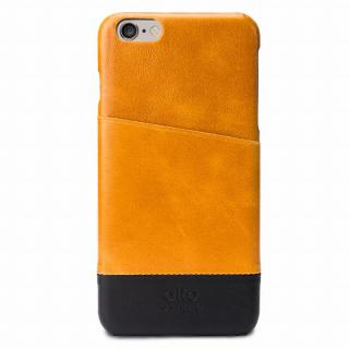 iPhone6s Plus/6 Plus ケース イタリア製本革ケース カードホルダー搭載 ライトブラウン/ブラック iPhone 6s Plus/6 Plus