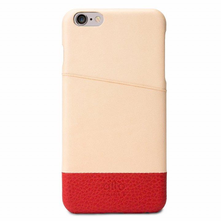 【iPhone6s Plus/6 Plusケース】イタリア製本革ケース カードホルダー搭載 オリジナル/レッド iPhone 6s Plus/6 Plus_0