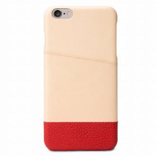 iPhone6s Plus/6 Plus ケース イタリア製本革ケース カードホルダー搭載 オリジナル/レッド iPhone 6s Plus/6 Plus