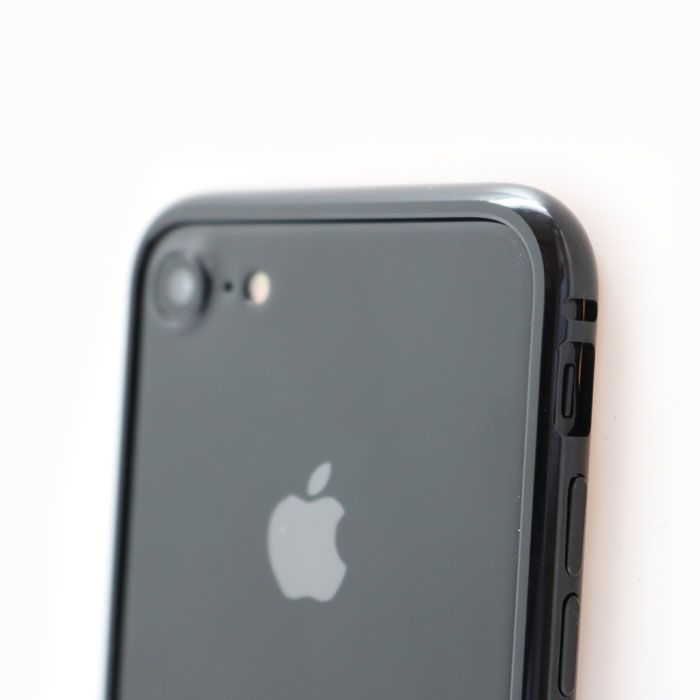 【iPhone8 Plus/7 Plusケース】クリスタルアーマー メタルバンパー ジェットブラック iPhone 8 Plus/7 Plus_0