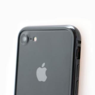 クリスタルアーマー メタルバンパー ジェットブラック iPhone 8 Plus/7 Plus