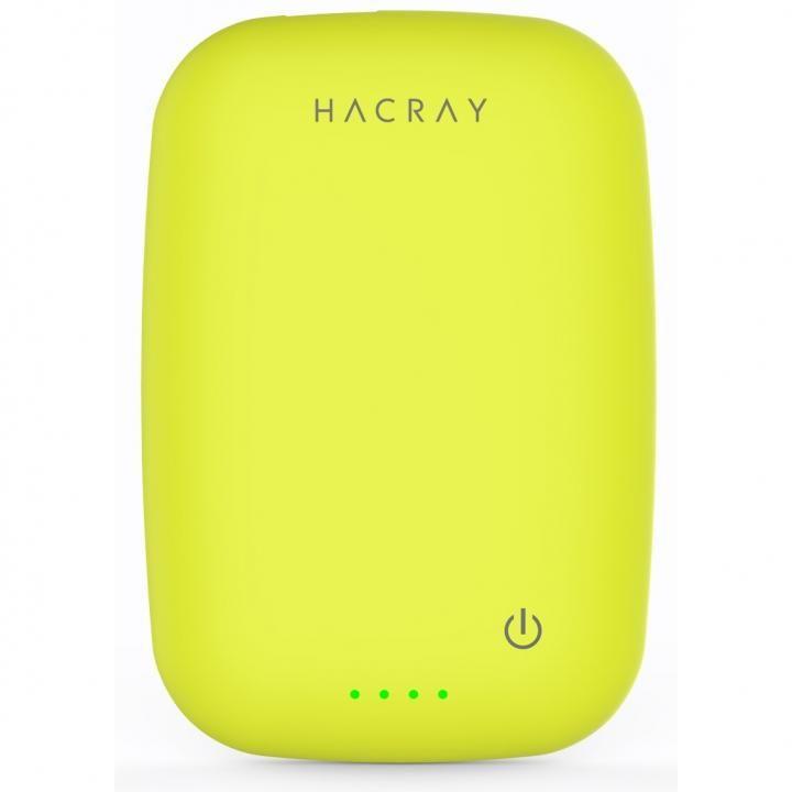 ワイヤレス充電器+4000mAhモバイルバッテリー Cable-Free Mobile Battery イエローグリーン_0