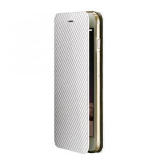 Deff monCarbone Portfolio 手帳型ケース ホワイト iPhone 6 Plus