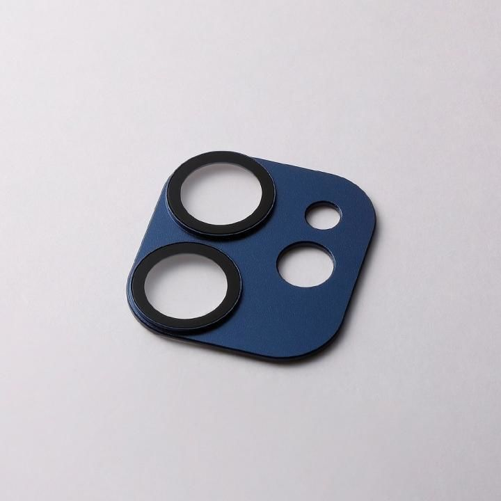 Hybrid Camera Lens Cover カメラレンズ保護 ネイビー iPhone 12【8月上旬】_0