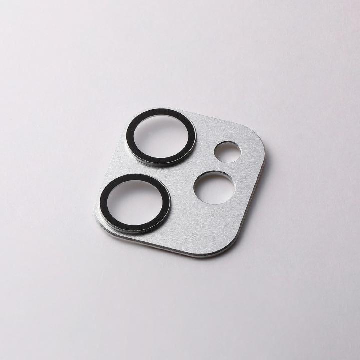 Hybrid Camera Lens Cover カメラレンズ保護 シルバー iPhone 12 mini_0