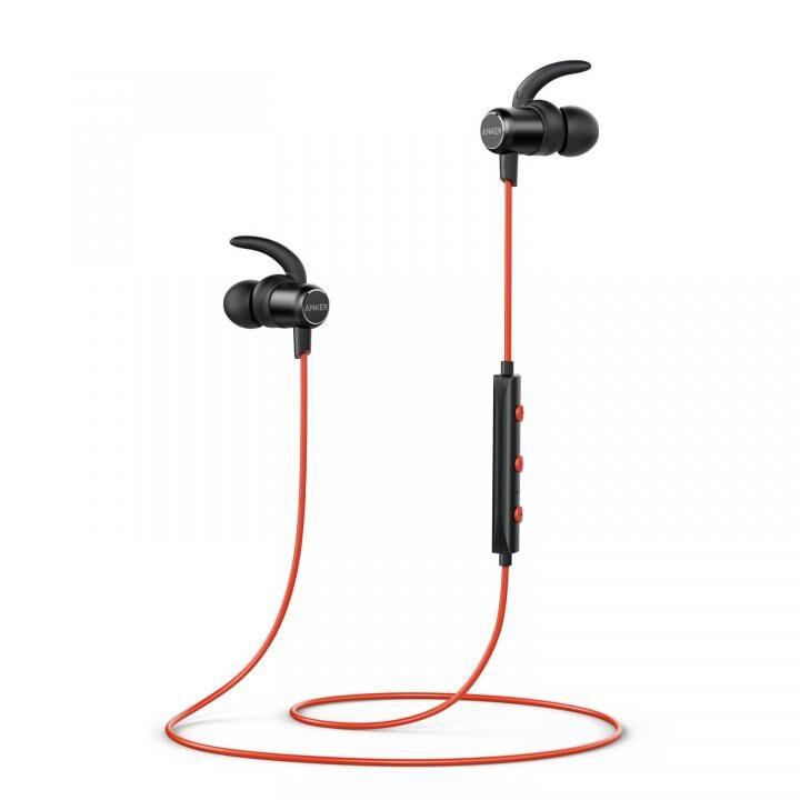 Anker SoundBuds Slim Bluetoothイヤホン IPX5 レッド_0