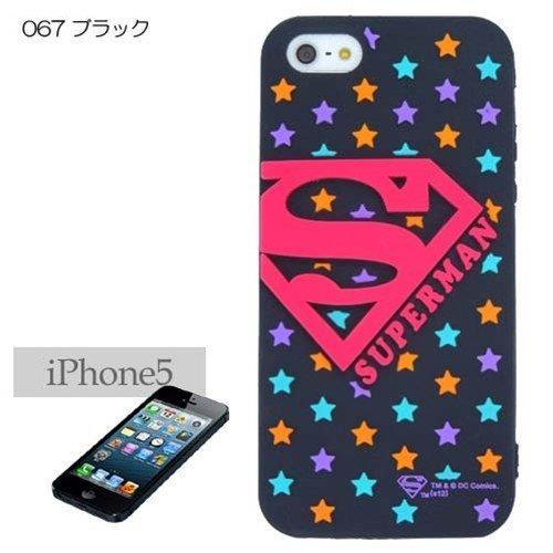 スーパーマン iPhone SE/5s/5 シリコンケース ブラック