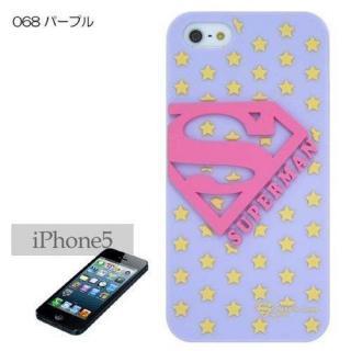スーパーマン iPhone SE/5s/5 シリコンケース パープル