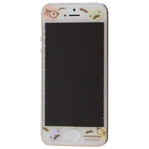 【iPhone SE/5s/5フィルム】カピバラさん iPhone5専用 画面保護フィルム パステル_0