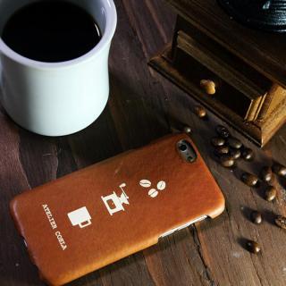 デザインレザーカバー [CAFFE DE COELA] ブラウン  iPhone 6s/6