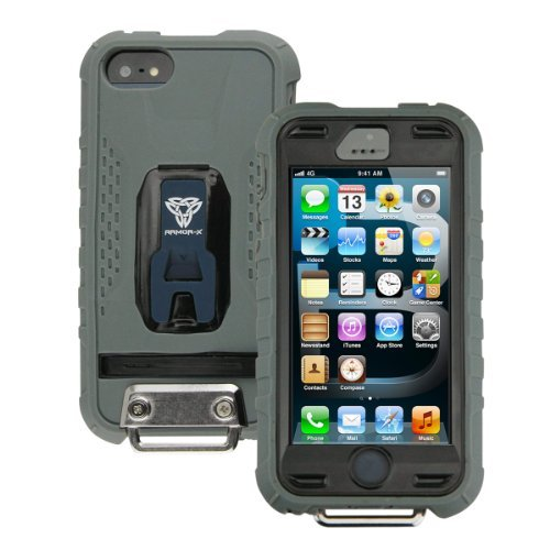 iPhone SE/5s/5 ケース Fullprotection Rugged case  iPhone5(ブラック×グレー)_0