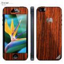 木製背面スキンシート TRUNKET オレンジ iPhone SE/5s/5
