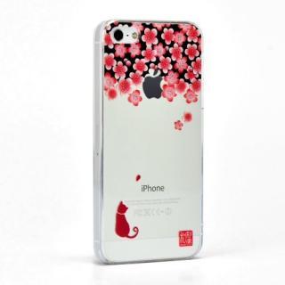 和彩美 ふるる 堅装飾ケース 梅と影猫 iPhone SE/5s/5ケース