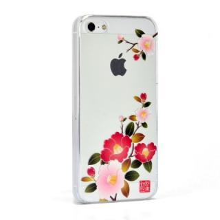 和彩美 ふるる 堅装飾ケース 朱椿 iPhone SE/5s/5ケース